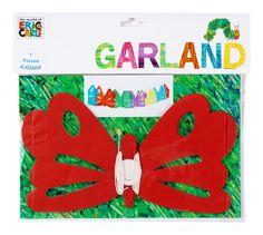 Raupe Nimmersatt Schmetterling Girlande bei www.party-princess.de