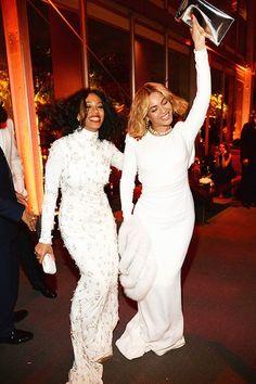 Solange and Beyoncé