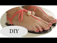 "DIY ""Huaraches"" SUMMER STYLE!!! Barfußsandalen - YouTube"