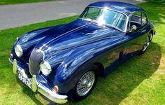 The Jaguar XK150 classic sports car