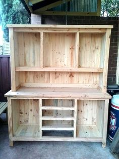 Pallet Kitchen Hutch - 30 DIY Pallet Ideas for Your Home | 101 Pallet Ideas                                                                                                                                                                                 More