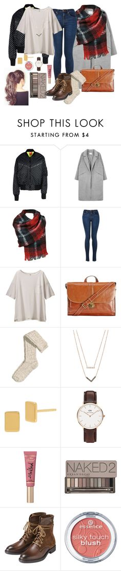 """""""Ootd#28"""" by luludedid on Polyvore featuring NIKE, Black Rivet, Uniqlo, Patricia Nash, H&M, Michael Kors, Diane Von Furstenberg, Daniel Wellington, Too Faced Cosmetics and Urban Decay"""