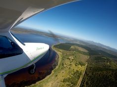 Flying over Swartvlei. Western cape. South Africa