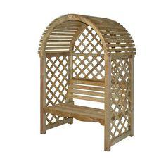 Parisienne 2 Seater Wooden Arbour Garden Garden Seating Garden Furniture