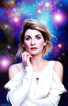 Artist concept art of Jodie Whittaker - Dr. 13th Doctor, Doctor 13, Eleventh Doctor, Hot Actors, Actors & Actresses, Jodi Whittaker, Doctor Who Companions, Tv Doctors, Doctor Who Fan Art