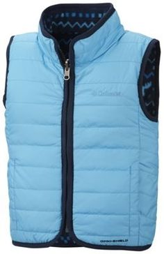 Columbia reversible fleece/down vest  also comes in red size 6-12 mo. $40
