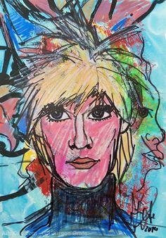 Artwork >> Jürgen Grafe >> ANDY WAHRHOL #artworks, #masterpiece, #oiloncanvas, #bright, #colorful, #andy, #wahrhol #celebrity