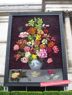 Florist Friday : Floral Installation celebrating the Dutch Flowers exhibition at The National Gallery | Flowerona