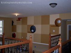 Kristin Plansky Murals   Billiards Room