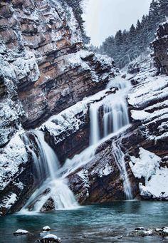 Cameron Falls in Waterton Lakes National Park.