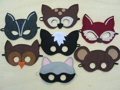 Kids Woodland Animal Masks by Mahalo Woodland Creatures, Woodland Animals, Woodland Critters, Crafts For Kids, Arts And Crafts, Felt Mask, Animal Masks, Mask For Kids, Masks Kids