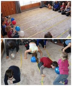Balloon push game #partygames #easter #kidsgames