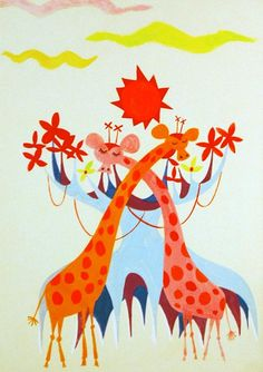 concept art for It's a Small World by Mary Blair
