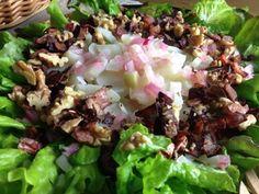 Maa-artisokkasalaatti par Tintti78 Vinaigrette, Cobb Salad, Cabbage, Vegetables, Food, Balsamic Vinegar, Salad, Recipe, Kitchens
