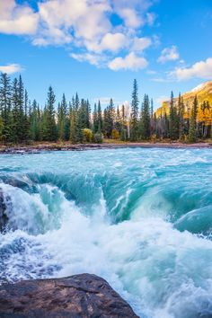 Athabasca Falls are