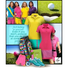 """""""Golf Girls - Lori's Golf Shoppe"""" by christiana40 on Polyvore Sporty Outfits, Stylish Outfits, Golf Skirts, Just Believe, Golf Fashion, Ladies Golf, Girl Pictures, Peplum Dress, Style Inspiration"""