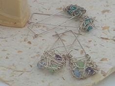 Webs of silver earrings