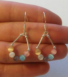 Sterling Silver Dangle Earrings by onetime on Etsy, $4.25