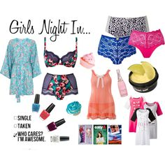 """""""Girls Night In"""" by simplybe on Polyvore"""