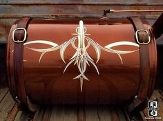 pinstriped gas tank example of classic pinstriping