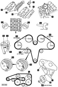 All the information you need on replacing your timing chain or timing belt. Every page has a full blown diagram. Engine Repair, Timing Belt, Vehicle, Automobile, Engineering, Bmw, Chain, Woodworking Projects, Chains