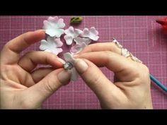 Foamiran Flowers & Centres Tutorial - YouTube