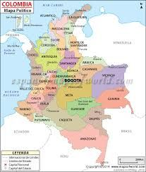 Colombia Political Map provides a deep knowledge on major cities, provinces and the provincial capitals of Colombia. It is situated in South America and is surrounded by Brazil, Peru, Equador and Venezuela India World Map, India Map, Kerala India, India Travel, Geography Map, Geography Lessons, Physical Geography, Geography Worksheets, Gernal Knowledge