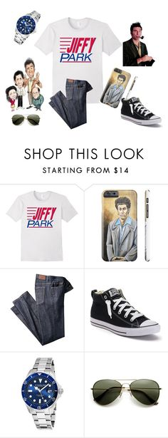 """""""Jiffy Park Seinfeld Fan Outfit"""" by sonya-bernhart on Polyvore featuring Converse, Stührling, men's fashion and menswear"""