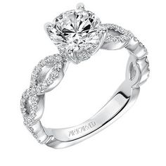 This beautiful infinity band is a perfect representation of your never ending love.   31-V576FRW-E