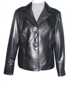 "Product review for Paccilo Women4037 Real Lambskin Leather Blazer.  - Laydown Notched Collar Button Front Closure, Peterpan Collar, Silky Lining, No Insulation, Petite Regular Plus Size, Silky Feel Pocket Lining. Not all leather is the same. When vendors say or state, ""leather or genuine leather"", they generally use ""pig skin"", which is the..."