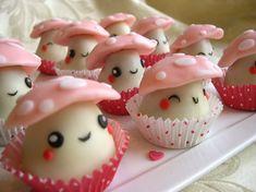 kawaii mushroom cake pops <3