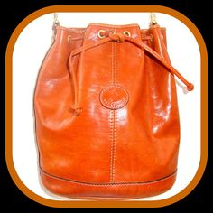 Italian leather bucket purse bucket bag by BornToShopVintage, $69.99