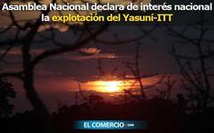 3 oct. 2013. La Asamblea Nacional declara de interés nacional la explotación del Yasuní ITT, según lo solicitado por Rafael Correa el 22 de agosto 2013. Foto: El Comercio