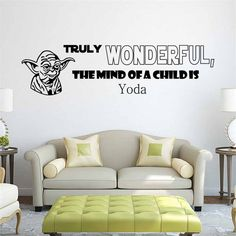 "The remarkable quote from Yoda of Star Wars is now available for your wall. Let the galactic adventure begin! - Handmade item - Materials: High Quality Vinyl - Made to order - 28"" width 8"" height / 71"