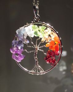 New! Chakra Tree of Life wire wrap Pendant!