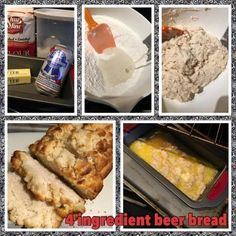 4 Ingredient Beer Bread.  You will never use a mix again with this easy, fast & delicious recipe.  midwestcouponclippers.net