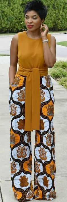 Pantalon en pagne #africafashion,