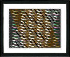 Placidus - Orange by Zhee Singer Framed Fine Art Giclee Painting Print