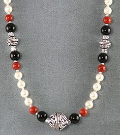 new beaded necklace designs | Free Necklace Designs Made with Wire, Beads & Gemstones #jewelrynecklaces