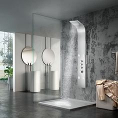 Canso Thermostatic Stainless Steel Shower Panel with Hand Shower #ShowerPanels