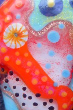 jasmin french ' soulwork ' lampwork focal bead von jasminfrench