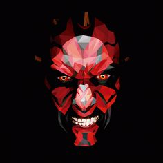 Darth Maul - Polygonal Art Created by Jesus Servin