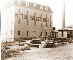 Victor Roller Mills, Ottawa, Illinois This building was south of the Mill Run (foreground) and east of the Hydraulic Basin of the I&M Canal in Ottawa, Il