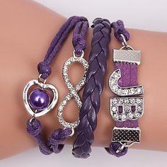 nahkarannekorut zirkoni monikerroksinen metalliseos hurmaa käsintehtyjä koruja Jewelries, Wristwatches, Charmed, Bracelets, Color, Bangle Bracelets, Colour, Bracelet, Bangle