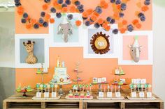 Nathan's Party Animals Themed Party – Dessert spread Party Animals, Animal Party, Cute Animals, What Is Great, Party Themes, Party Ideas, Party Desserts, Birthday, Kids