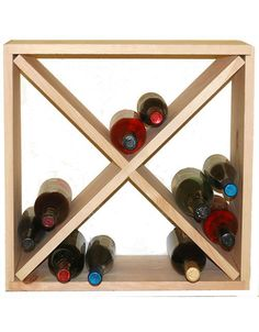 This Pine Cellar Cube is a stackable wine rack with a 24 bottle storage capacity. This elegant wine storage solution can fit almost anywhere.