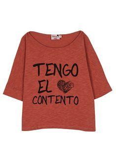 Camiseta Dolores Promesas tengo el corazon contento
