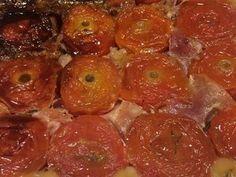 Tatin de tomate au chevre  dans le moule tablette