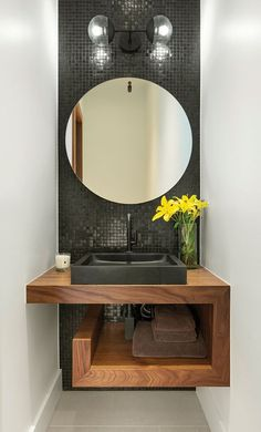 A diverse collection of 12 stylish loos, from tiny to regal Washroom Design, Bathroom Design Luxury, Modern Bathroom Decor, Modern Bathroom Design, Small Bathroom, Bathroom Ideas, Powder Room Decor, Powder Room Design, Home Room Design