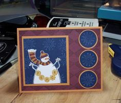 Christmas in July by CknODaC - Cards and Paper Crafts at Splitcoaststampers Christmas In July, Stamping Up, Snowman, Paper Crafts, Simple, Frame, Cards, Picture Frame, Tissue Paper Crafts